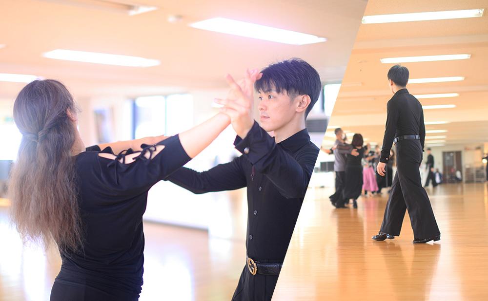 基礎から社交ダンスを学びたい方から、競技ダンス(ラテン・スタンダード)の技術を向上したい方まで、それぞれの目的に合わせて指導します。各レッスンの詳細はこちらでご案内しています。体験レッスンもありますので、ぜひご利用ください。